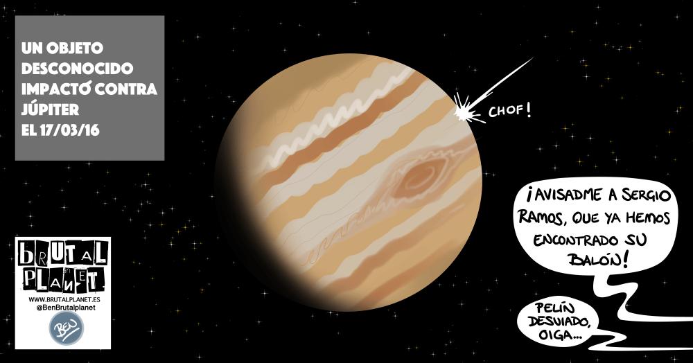 Objeto desconocido impacta en Júpiter