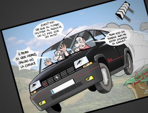 Resultado final: Caricatura personalizada - La leyenda del Renault 5 Copa Turbo