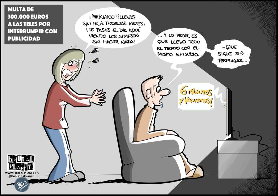 Multa a las teles por interrumpir con Publicidad