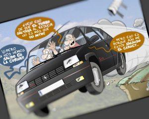 Caricatura personalizada - El mito del R5 Copa Turbo