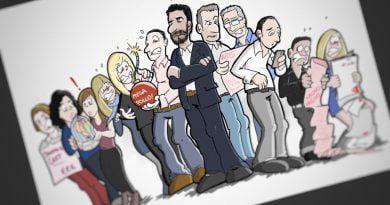 Caricatura personalizada - Una de jefazos