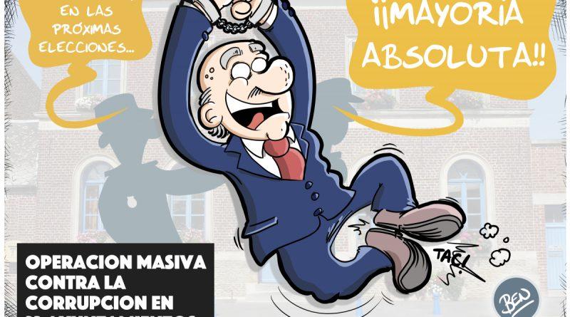 Operación masiva contra la corrupción en 23 Ayuntamientos
