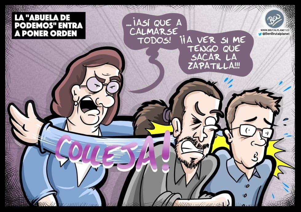"""La """"abuela de Podemos"""" entra a poner orden"""