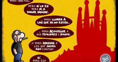 Viñeta dedicada a Barcelona 18-A
