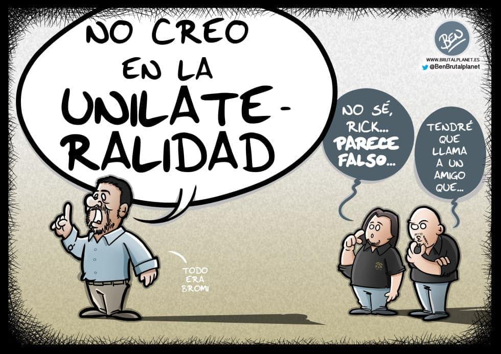 Los Jordis reniegan de la Unilateralidad