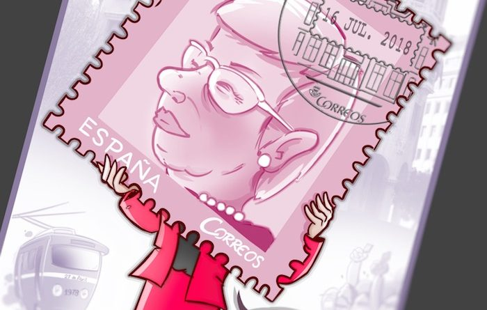 """Caricatura Personalizada - Un Sello para la """"Dama de los sellos"""""""