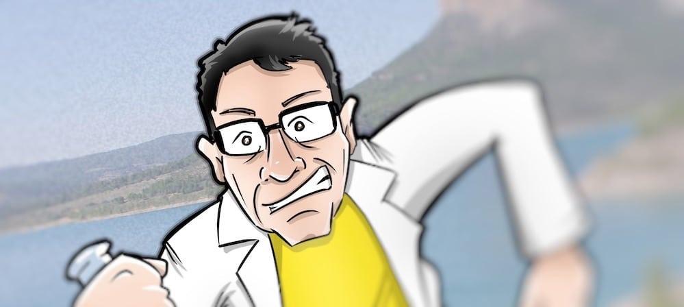 Caricatura personalizada - Regalo de cumpleaños - Científico atleta y amante de la naturaleza 0