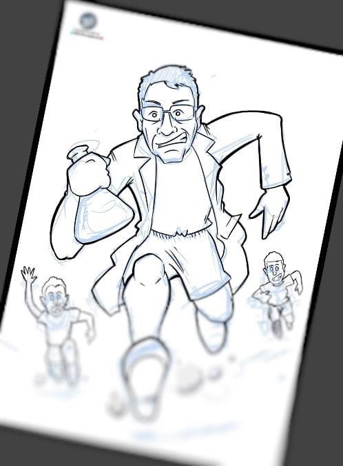 Caricatura personalizada - Regalo de cumpleaños - Científico atleta y amante de la naturaleza 2