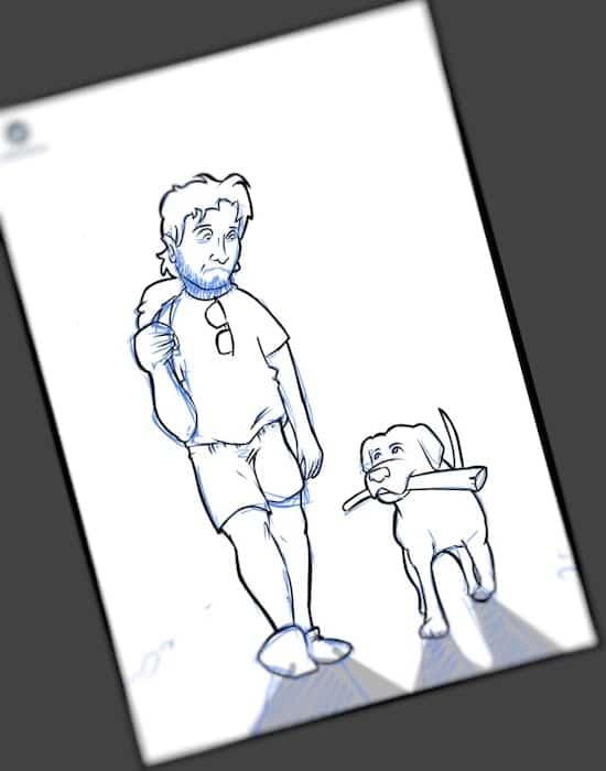Caricatura personalizada - Hermano Perro