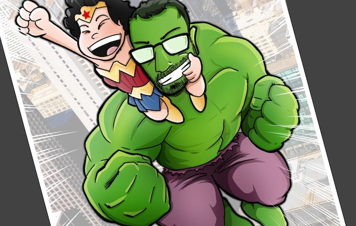 Ilustración Caricatura Personalizada - Superhéroes