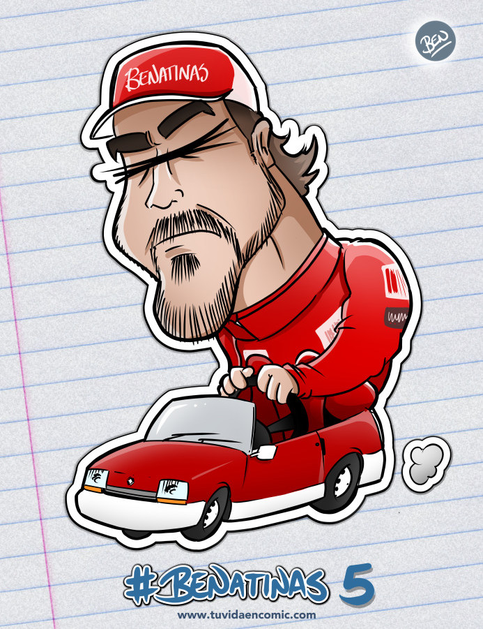 BENatinas - Caricatura - Fernando Alonso
