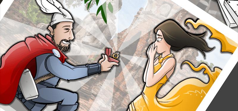 Cómic Personalizado - Una historia de Amor y Superhéroes - tuvidaencomic.com