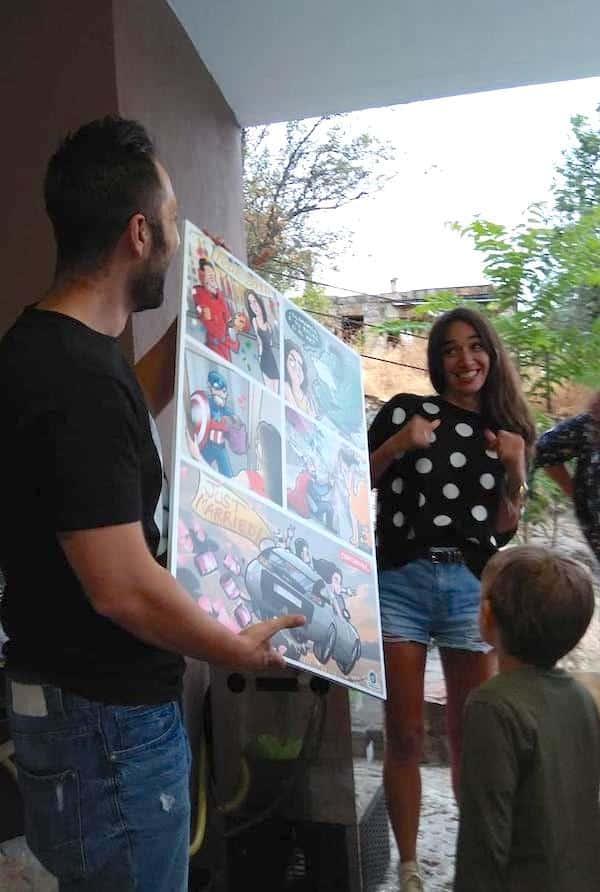 Cómic Personalizado - Una historia de Amor y Superhéroes - tuvidaencomic.com - reacciones 2
