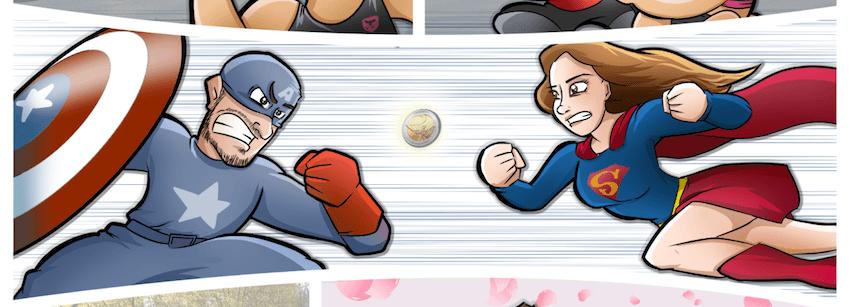 Ilustración Cómic Personalizado - Tejón Topo y la moneda de dos euros - Caricatura Personalizada 0