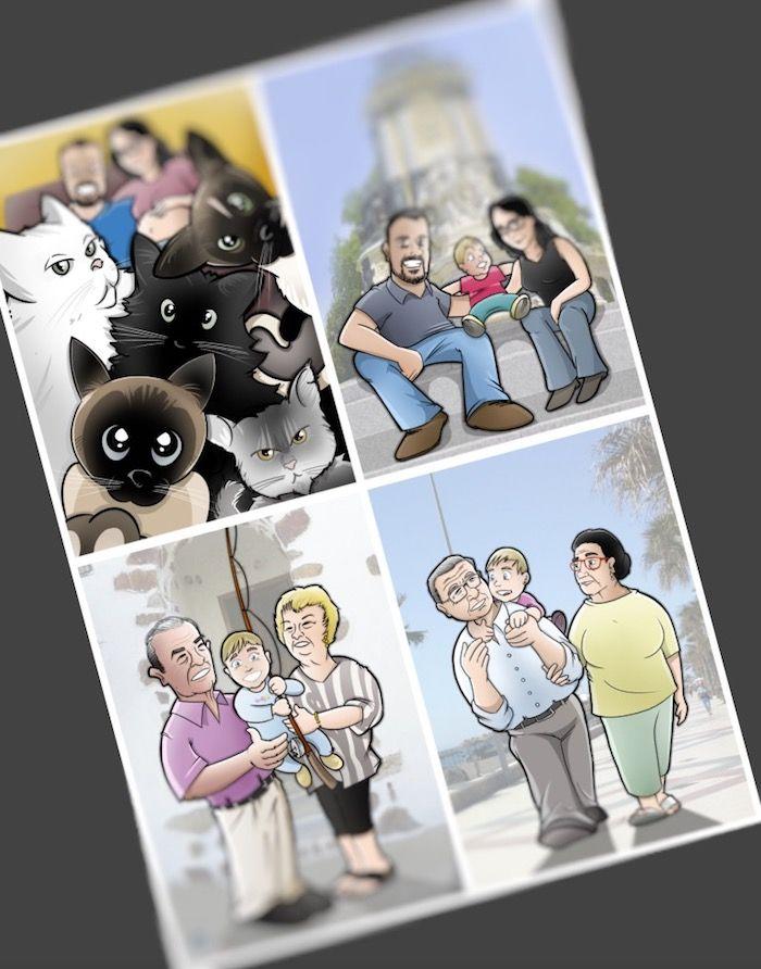 Ilustración Caricatura personalizada - tuvidaencomiccom - Tu Vida en Cómic 1
