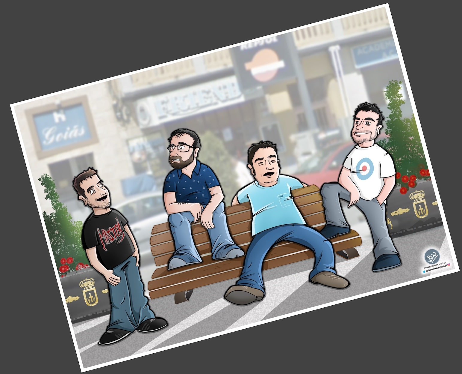 Caricatura Personalizada - Waiting on a Friend (Caricatura grupo de amigos) - tuvidaencomic.com - 4