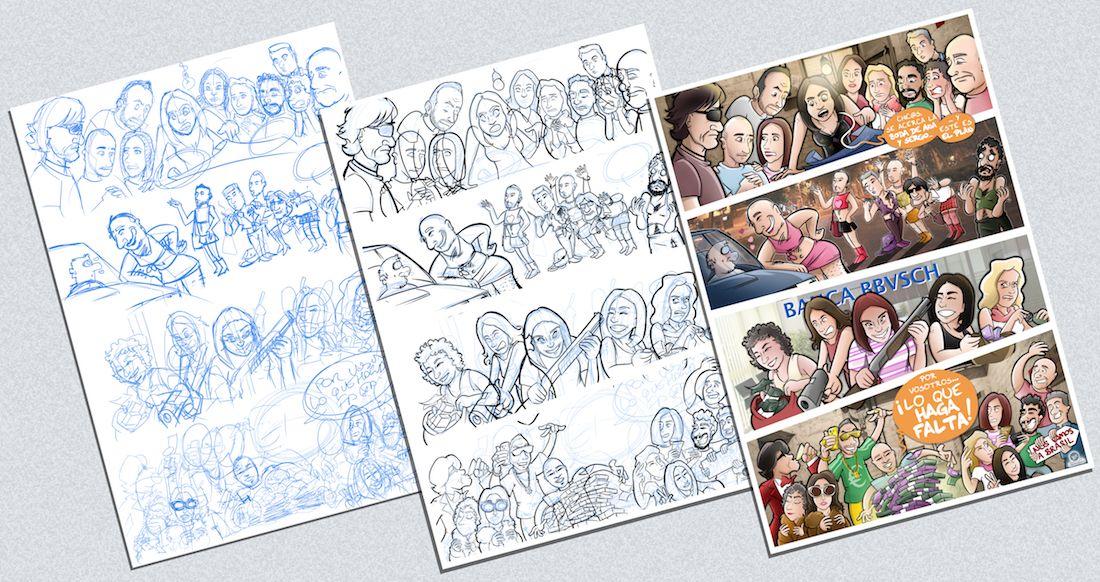 Ilustración - Cómic Personalizado - Caricaturas Personalizadas - Regalo de boda - 1