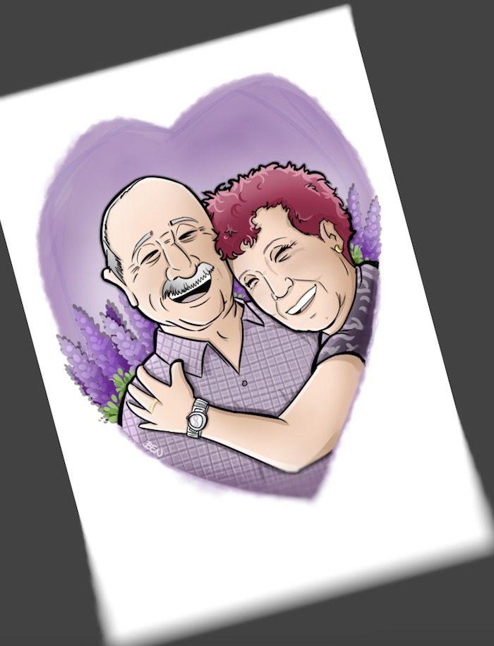 Ilustración Caricatura Personalizada - Amor que inspira - 3