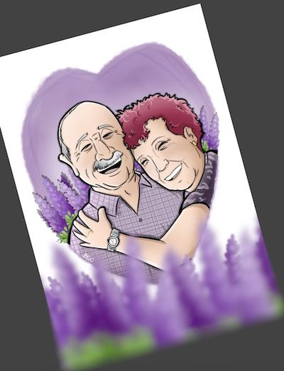 MINI Ilustración-Caricatura-Personalizada-Amor-que-inspira-4