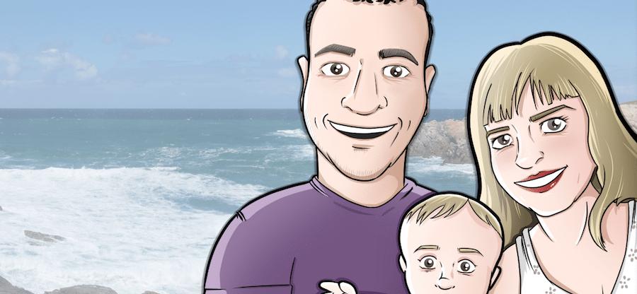 Ilustración - Caricatura Personalizada - Foto Familiar - Tu Vida En Cómic 0