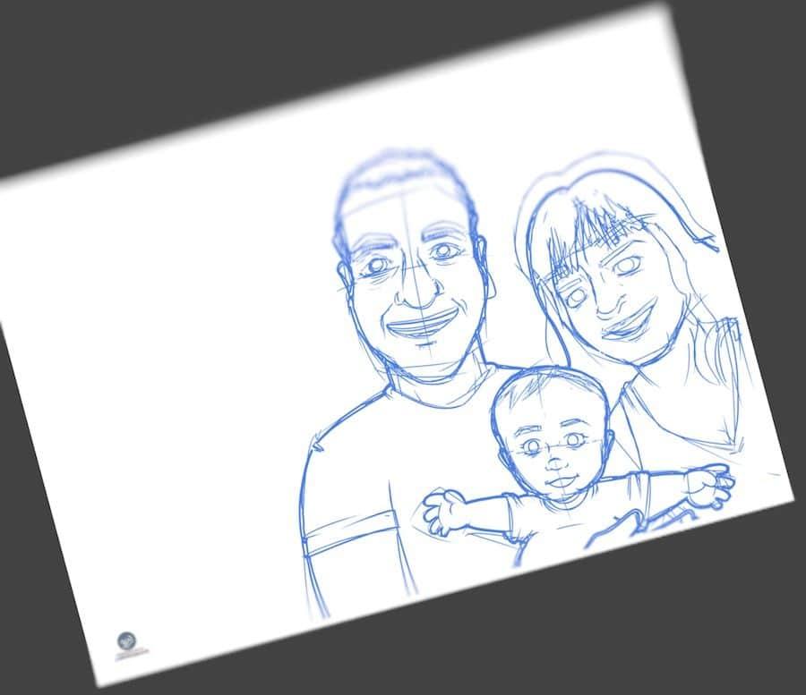 Ilustración - Caricatura Personalizada - Foto Familiar - Tu Vida En Cómic 1