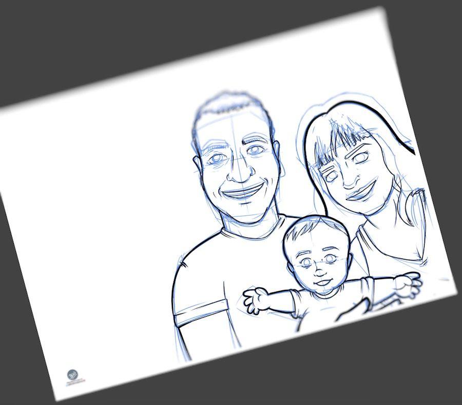 Ilustración - Caricatura Personalizada - Foto Familiar - Tu Vida En Cómic 2