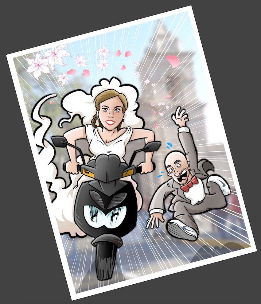 Ilustración - Caricatura Personalizada - Momentos de pareja - tuvidaencomic.com 2