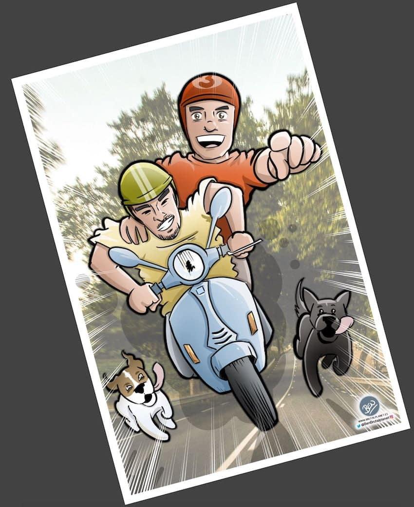 Ilustración - Caricatura Personalizada - Momentos de pareja - tuvidaencomic.com 3