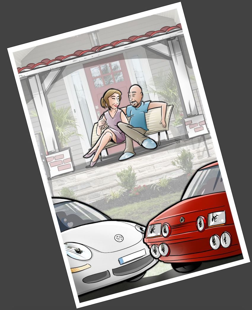 Ilustración - Caricatura Personalizada - Momentos de pareja - tuvidaencomic.com 4