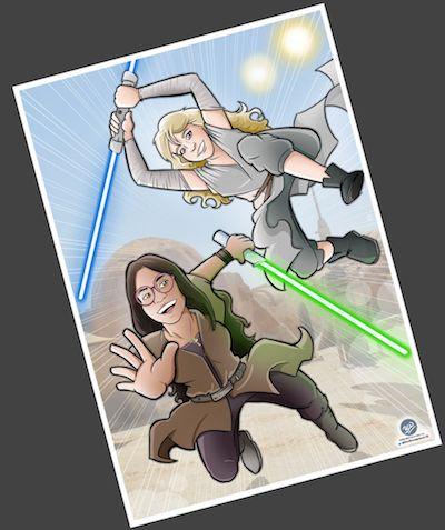 MINI Ilustración-Caricatura-personalizada-Jedis-en-Vigo-4