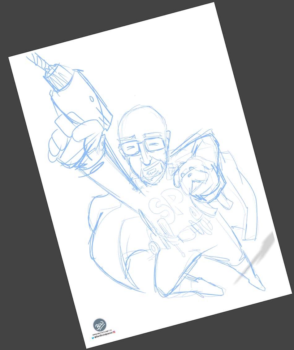 Ilustración - Caricatura personalizada - SuperPapa 1