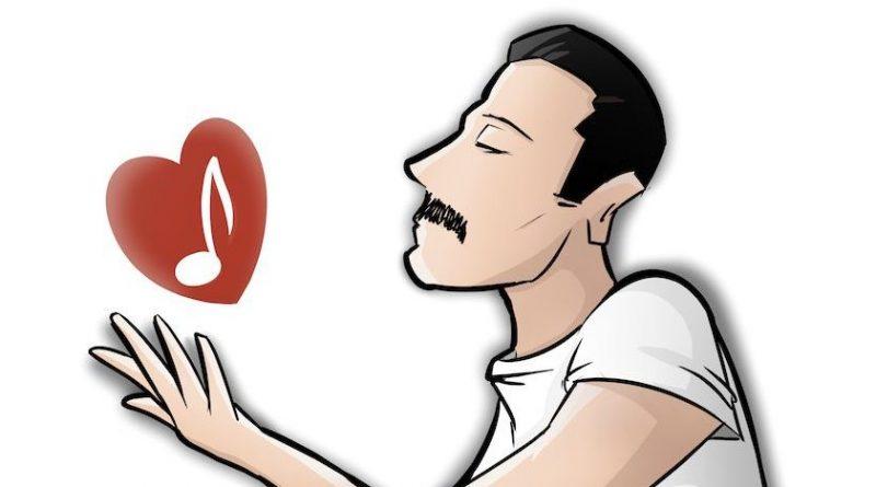 Ilustración homenaje a Freddie Mercury
