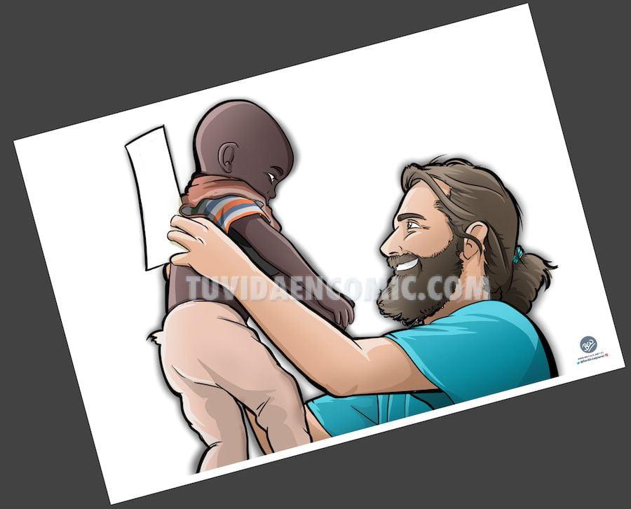 Caricatura Ilustración Personalizada - regalo para el médico de Etiopía 2