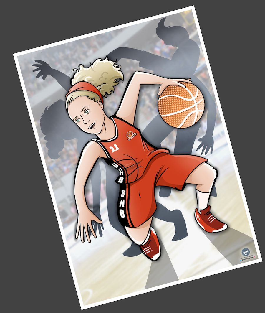 Ilustración - Caricatura Personalizada - Pasión por el baloncesto 3