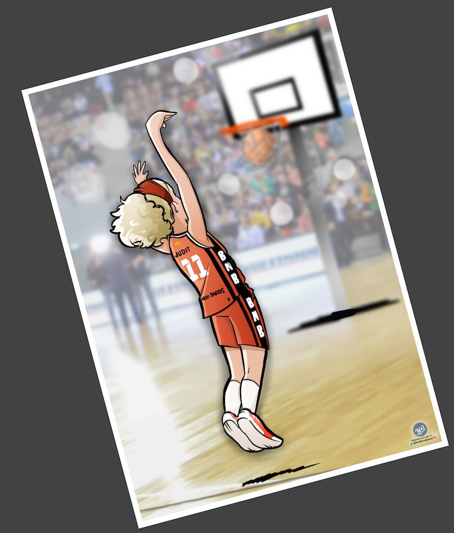 Ilustración - Caricatura Personalizada - Pasión por el baloncesto 4