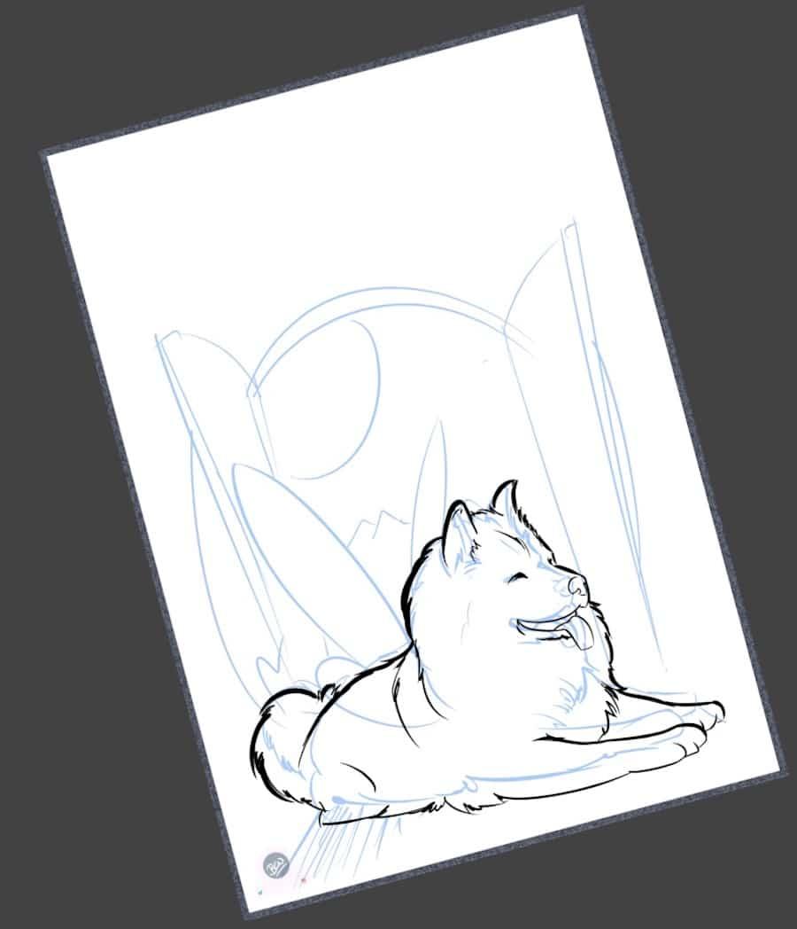 Ilustración - Caricatura personalizada - Transformando tu perrita en hada - tuvidaencomic.com - BEN - 1