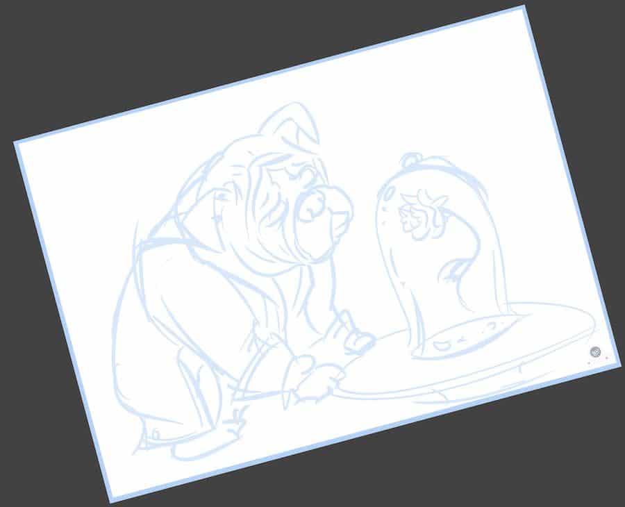 Ilustración Infantil - Bestia y la Rosa encerrada 1