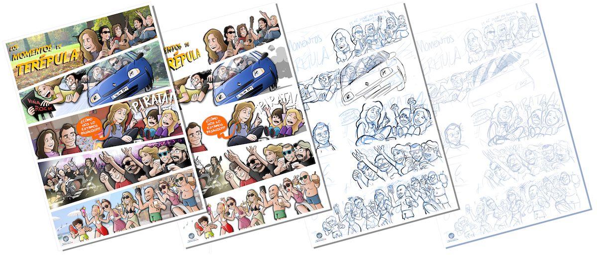 Cómic Personalizado - Los mundos de Terépula - tuvidaencomic.com - BEN - Proceso 1