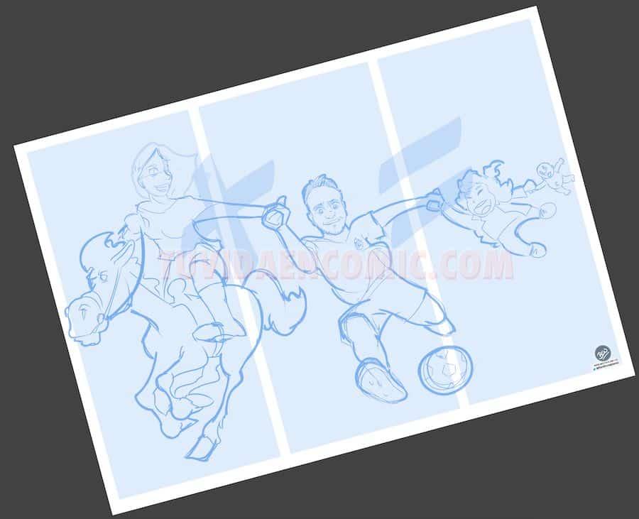 Ilustración Caricatura Personalizada - Malagueña + Ceutí = Madrileña - tuvidaencomic.com BEN 1