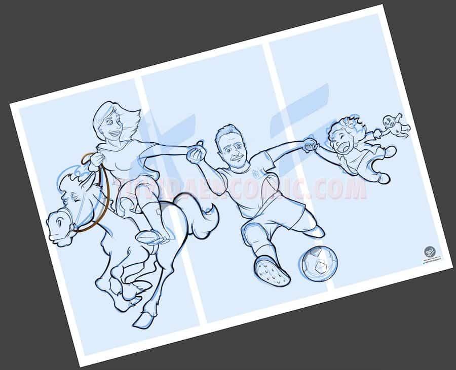 Ilustración Caricatura Personalizada - Malagueña + Ceutí = Madrileña - tuvidaencomic.com BEN 2