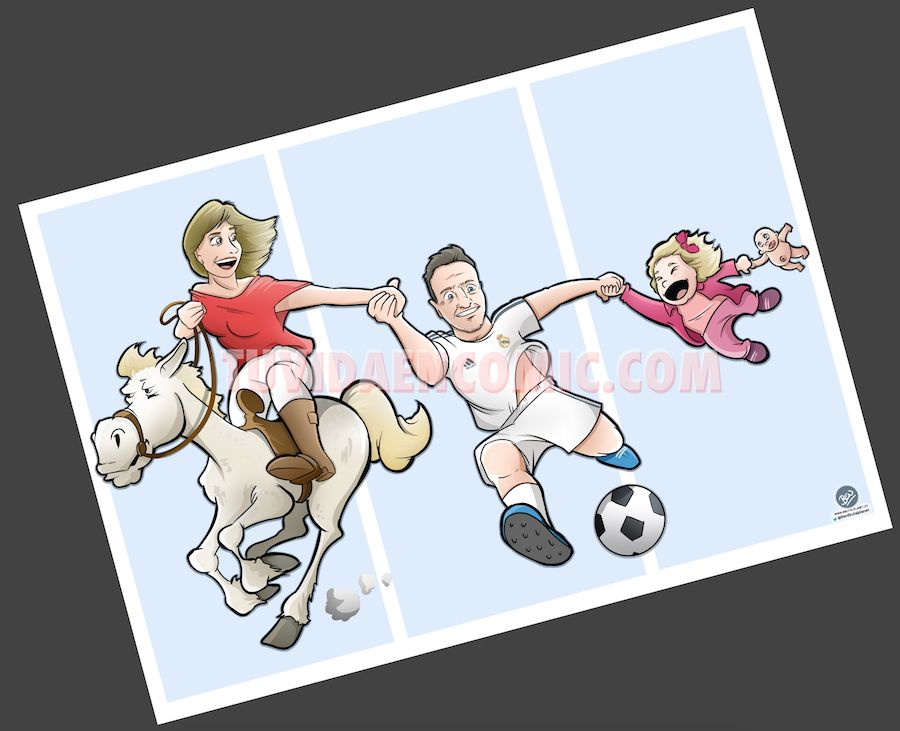 Ilustración Caricatura Personalizada - Malagueña + Ceutí = Madrileña - tuvidaencomic.com BEN 3