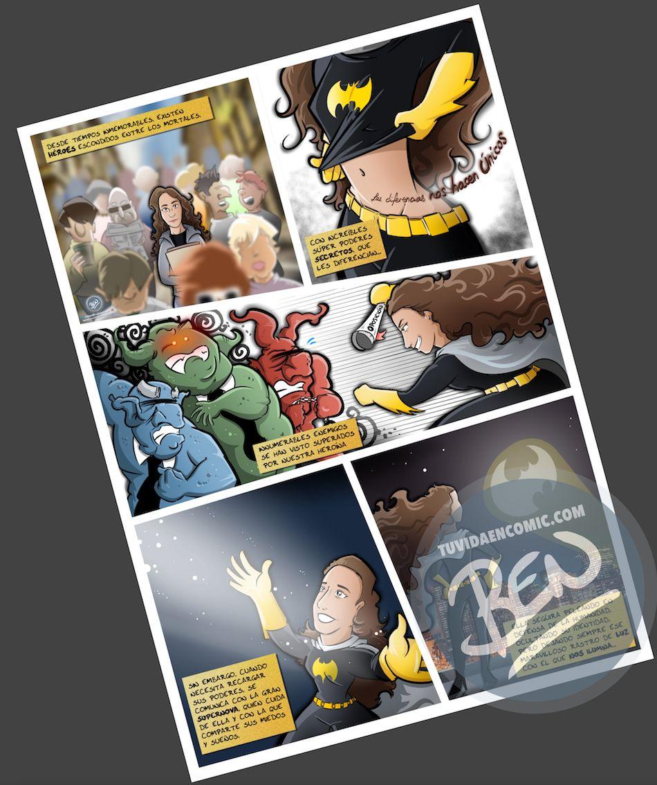 Cómic Personalizado - Regalo de cumpleaños para BatGirl - Ilustración - Caricatura personalizada - tuvidaencomic.com - BEN - 4