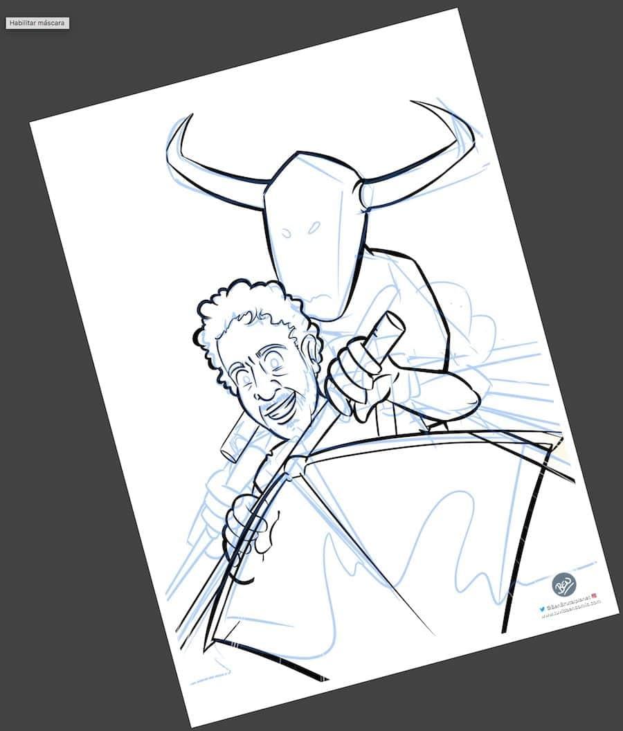 Caricatura Personalizada - Toros y traineras - Ilustración personalizada - tuvidaencomic.com - BEN - 2