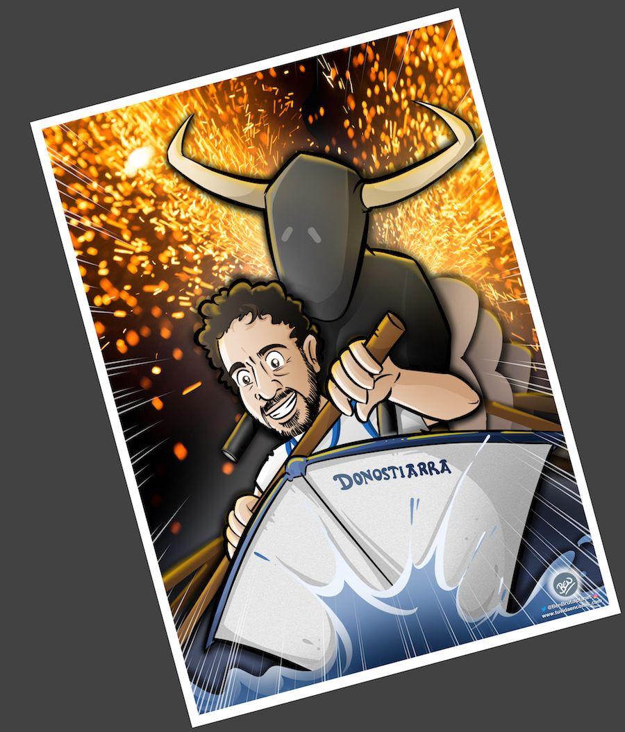 Caricatura Personalizada - Toros y traineras - Ilustración personalizada - tuvidaencomic.com - BEN - 4