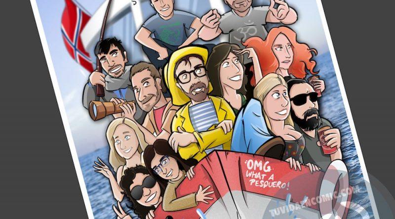 Ilustración Caricatura Personalizada - Un recuerdo para el amigo que se va - 4