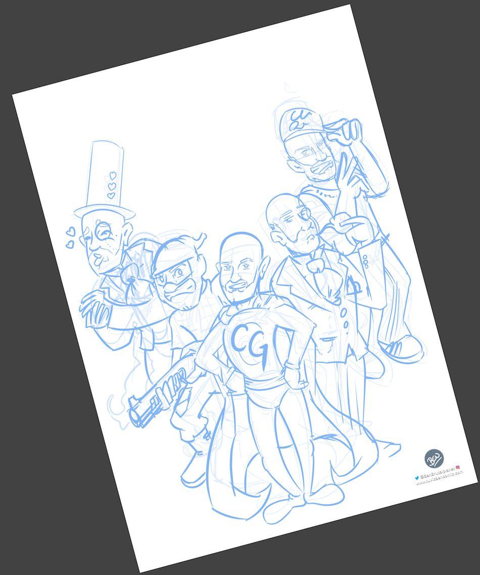 Ilustración Personalizada - Portada de cómic - personalidades - caricatura personalizada - tuvidaencomic.com - BEN - 1