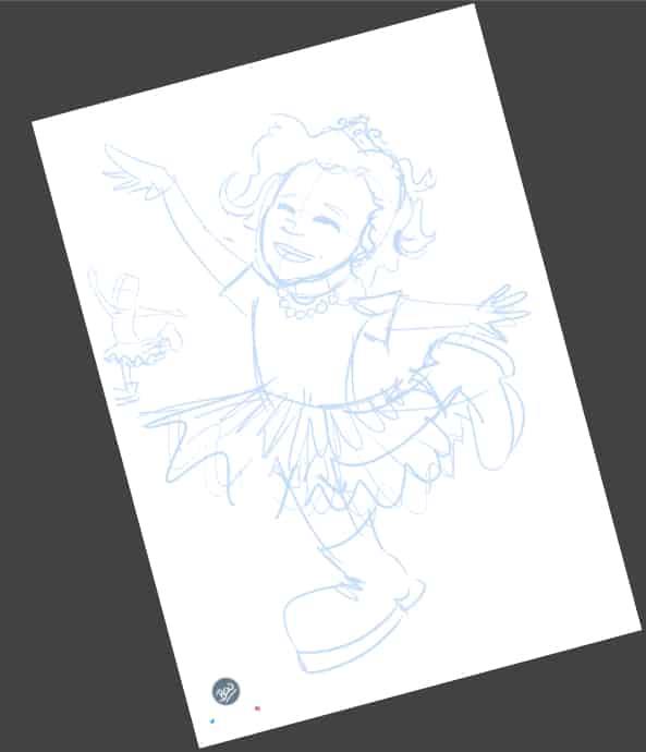 Ilustración personalizada - Afra la Bailarina - caricatura personalizada - tuvidaencomic.com - BEN - 1