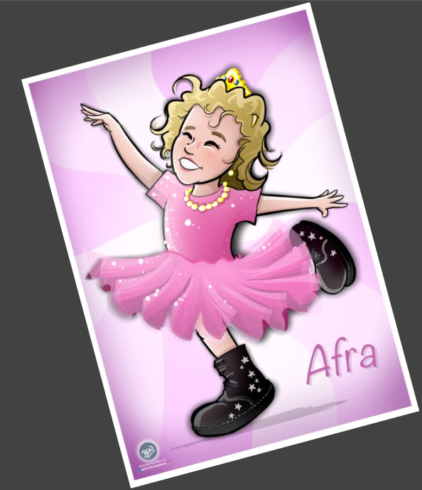 Ilustración personalizada - Afra la Bailarina - caricatura personalizada - tuvidaencomic.com - BEN - 4