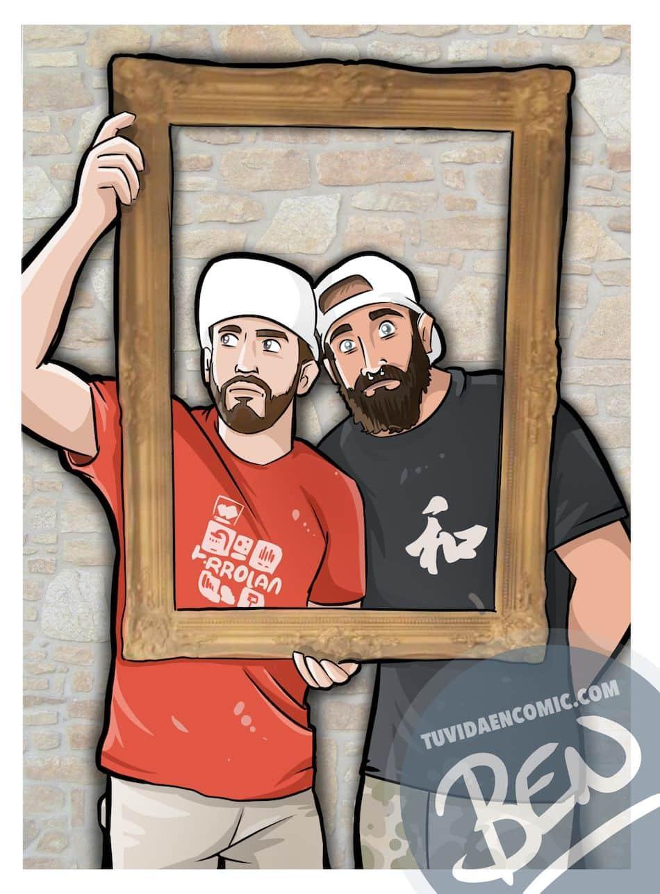 Ilustración personalizada - Inmortalizando momentos épicos - Caricatura Personalizada - tuvidaencomic.com - BEN 2