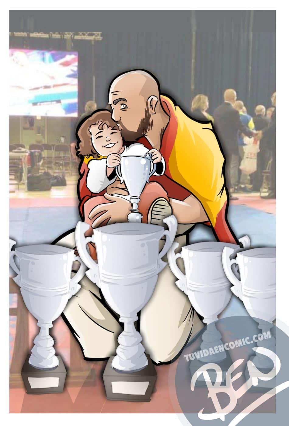 Ilustración personalizada - Inmortalizando momentos épicos - Caricatura Personalizada - tuvidaencomic.com - BEN 3